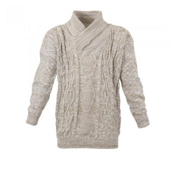 Lavecchia knit sweater in  ecru-beige