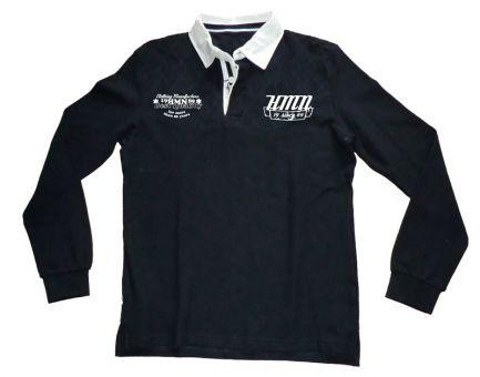 Longsleeve fashion polo shirt navy blue