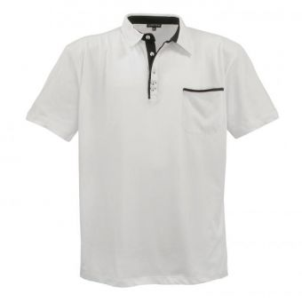 Lavecchia Basic polo shirt in cream-white