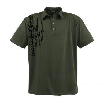 Lavecchia Fashion Polo in khaki with writing print