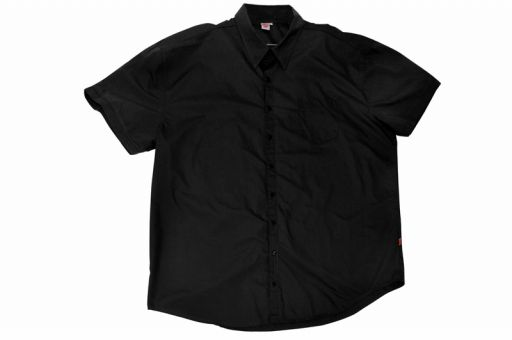 Short sleeved cotton shirt black