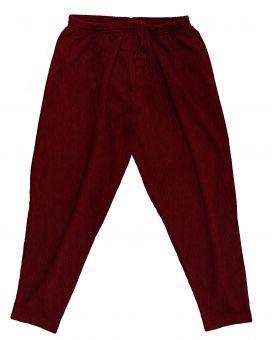 Jogging Trousers darkred melange 15XL