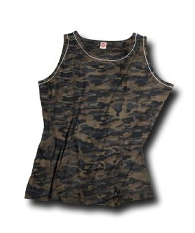 Tank top with camouflage design