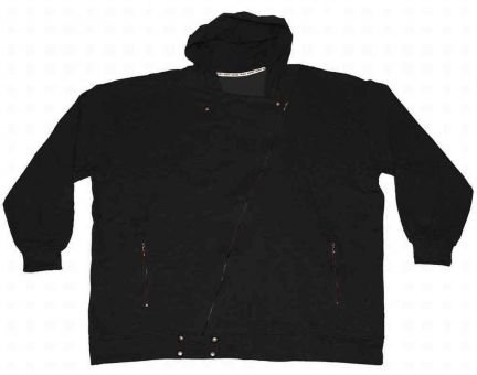 Hooded Biker jacket Black