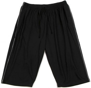 7/8 Bermuda Shorts black with grey Piping