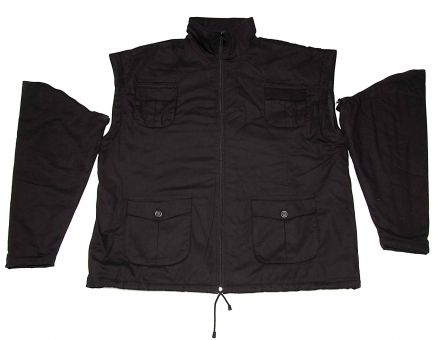Winterjacket black Zip off 8XL