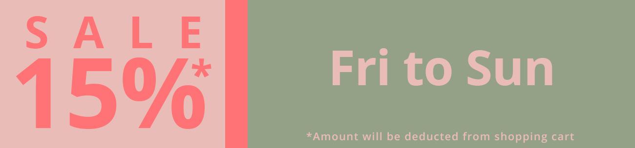 15% Weekend sale