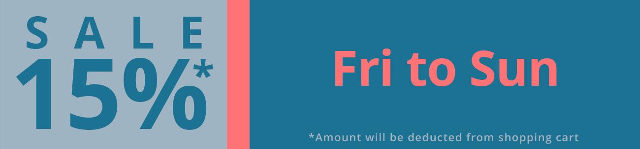 15% Weekend sale C2