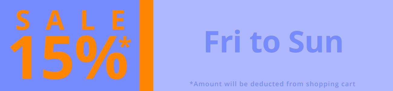 15% Weekend sale C3